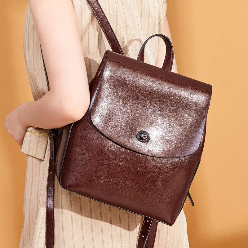 Nouveau 2019 femmes sac à dos split cuir sac à dos sac d'école pour filles adolescentes vintage sac à dos grand voyage femme sac à bandoulière