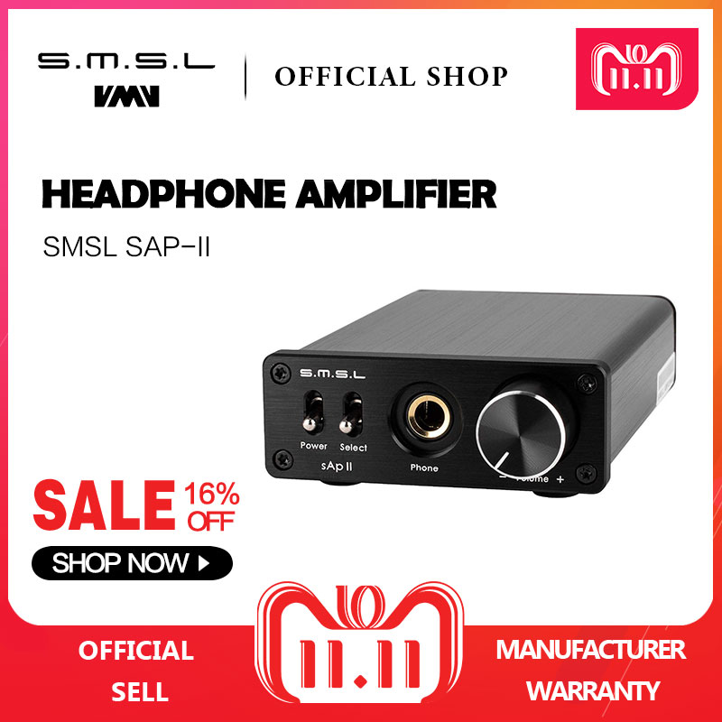 SMSL SAP II Portable Headphone Amplifier TPA6120A2 Big Power HiFi Fidelity Stereo Headphone Amplifier with 2 Ways switch inputs smsl sap ii hifi headphone amplifier audio tpa6120a2 portable headphone amp stereo amplifier headphone with 2 ways switch inputs