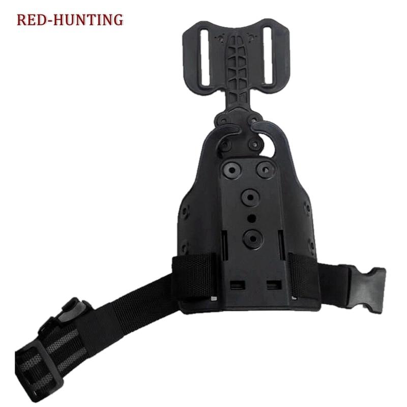 Новый кобура Платформа Охота Тактический PPK PPGlock 17 падение ноги пистолет адаптер кобуры один ремень два ремня охотничий Пистолет Аксессуары
