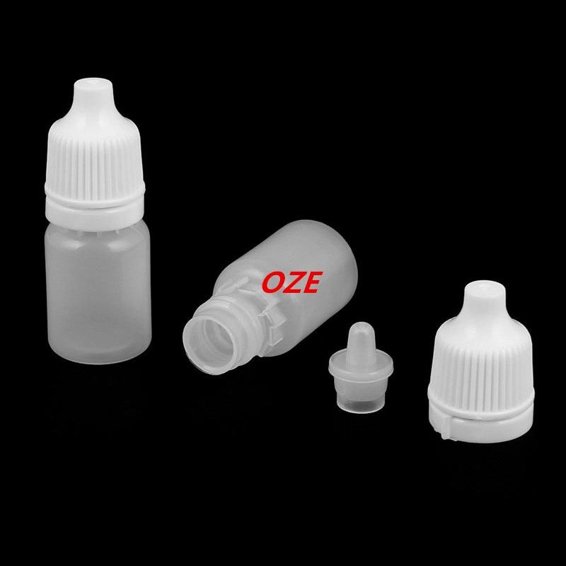 Plastic Oil Bottle Drop Eye Liquid Squeezable White 5ml Capacity Dropper 100pcs 5pcs 100ml capacity e liquid bottle