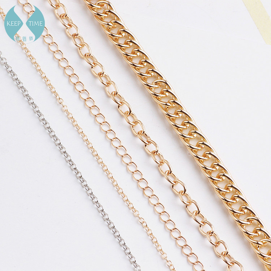 1m DIY Accessories Materials Korean Jewelry Chain Copper Chain Tassel Earrings Earrings Clothing Handmade