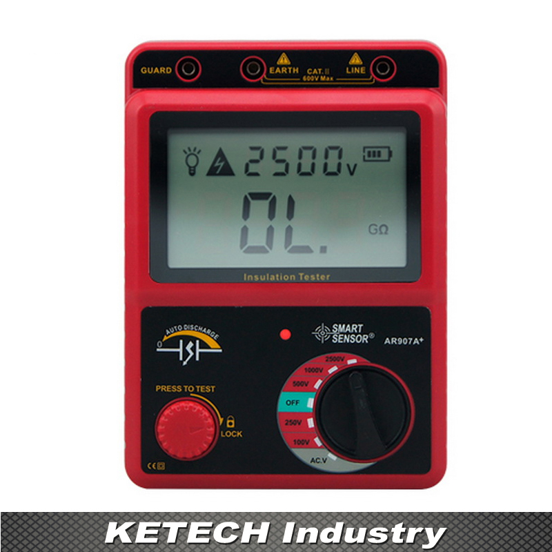 AR907A Digital Insulation Meter Tester Megger MegOhm digital insulation tester megger megohm meter ar907a