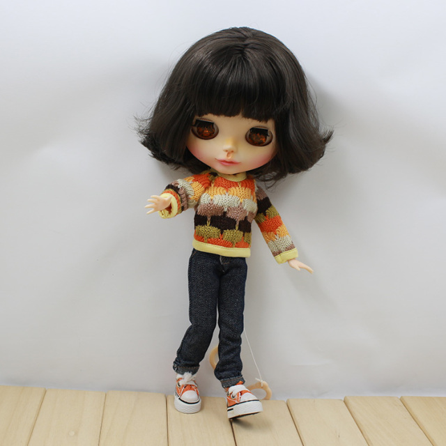 Neo Blythe Doll Colorful Sweater