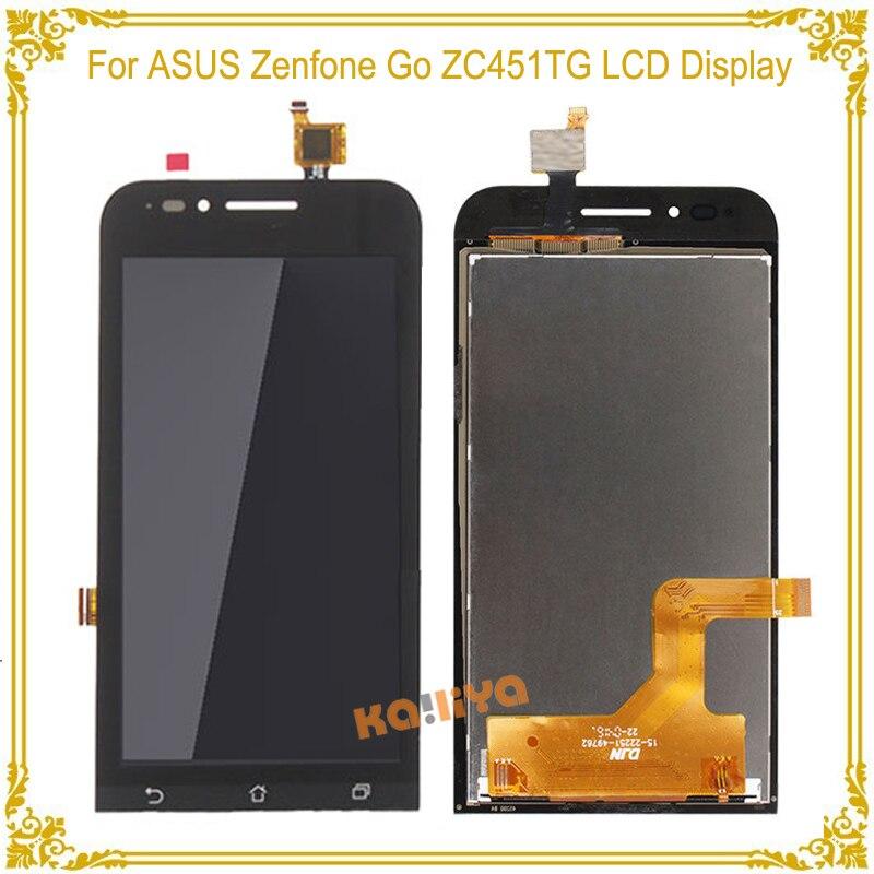imágenes para Pantalla LCD de alta Calidad Para ASUS Zenfone Ir ZC451TG + Pantalla Táctil Digitalizador Asamblea Reemplazo Nueva Negro 4.5 pulgadas Para ZC451T