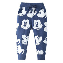Boy Winter Pants Brand Cotton Drawstring Warm Children's Trousers Animal Print Boy Trousers Winter Children's Clothing