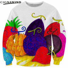 Devil fruit 3D print sweatshirts tops