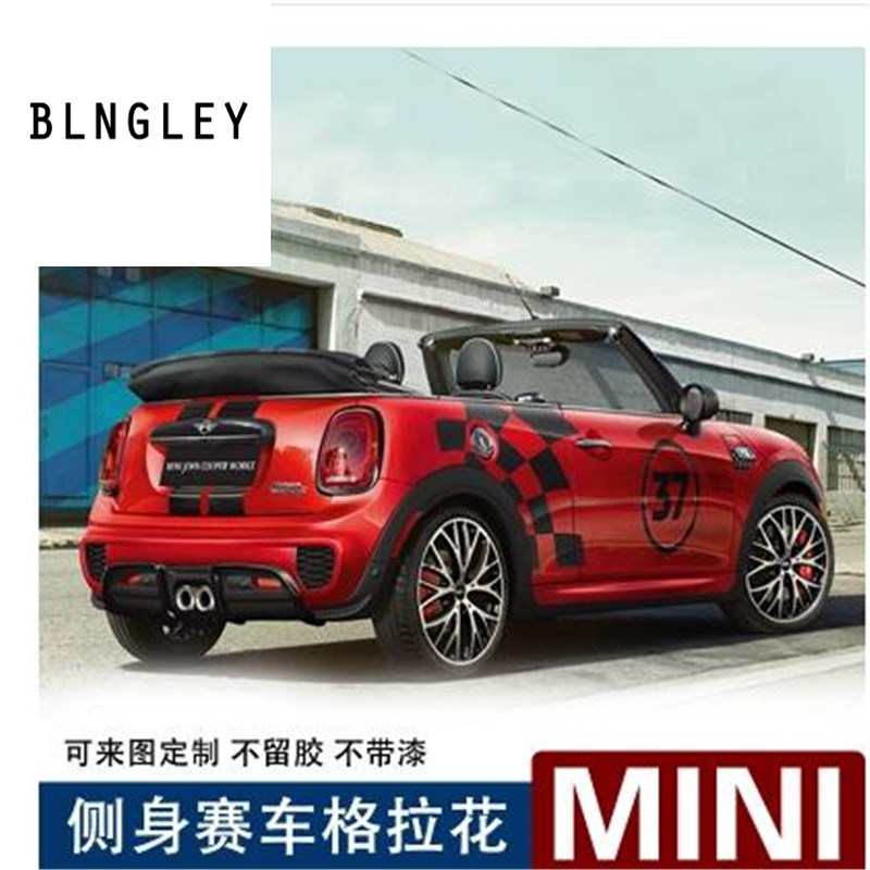 Creative Racing Style Round Car Door Stickers For BMW Mini