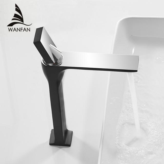 Basin Faucet Retro Black Faucet Taps  Bathroom Sink Faucet Single Handle Hole Deck Vintage Wash Hot Cold Mixer Tap Crane 855003