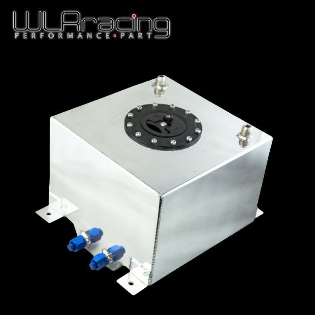 WLR RACING - 20L Aluminum Fuel Surge tank with cap/foam inside mirror polished Fuel cell without sensor WLR-TK14 wlr racing 30l aluminium fuel surge tank mirror polished fuel cell foam inside without sensor wlr tk67