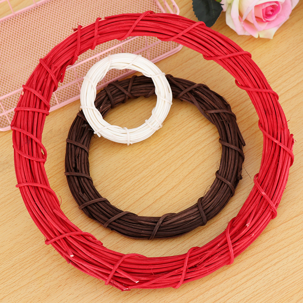 Willow Wicker Wreath Rattan Ring Chirstmas Decor Home Wall Hanging Ornament