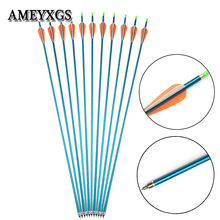 6pcs/12pcs Archery Spine 500 Aluminum Arrow Replaceable Arrowhead Aviation Shaft For Outdoor Shooting Accessories