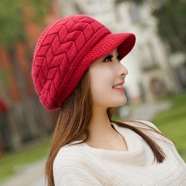 79b2ae23ff7 Berets New Arrival Female Knitted Cap Angora Wool Cap Child Hat Tide ...