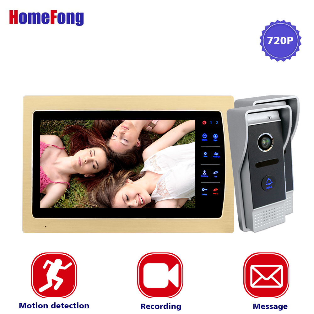 Homefong  10 Inch Video Intercom Door Bell Button Wired with IR Camera 2.8mm Lens AHD 720P 2 Outdoor  Stations Voice Message MP4Homefong  10 Inch Video Intercom Door Bell Button Wired with IR Camera 2.8mm Lens AHD 720P 2 Outdoor  Stations Voice Message MP4