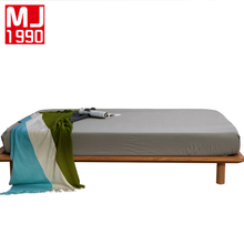 Sanding Solid Fitted Sheet Mattress Cover Printing Bedding Linens Plain Bed With Elastic Band Double Russia Size 160x200cm