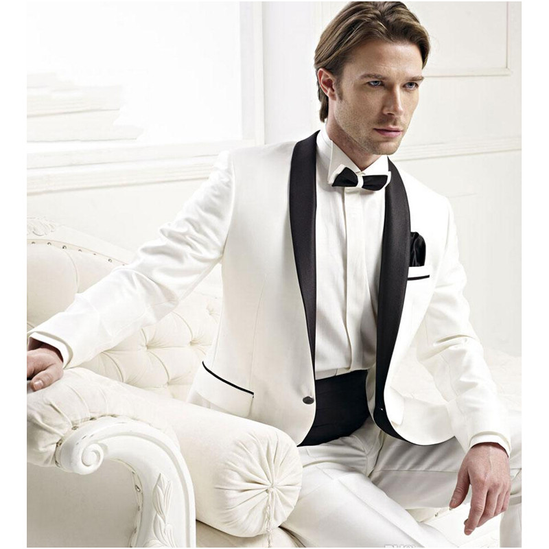 New Time-limited Rushed Men Suit Hote Sale Tuxedos Mens Dress Process Shawl Collar Groom Suits Classic (jacket+pants+girdle)