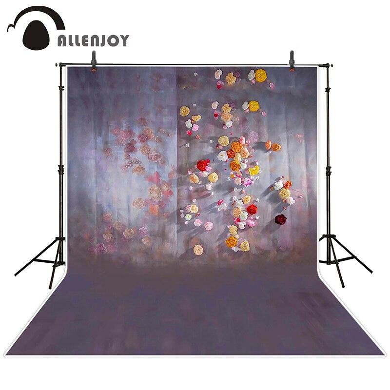 8x8FT Vinyl Photo Backdrops,Flower,Painting Effect Daisy Photoshoot Props Photo Background Studio Prop