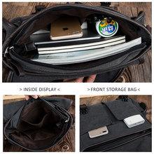Vintage Men's Shoulder Bag Travel Crossbody Bags Causal Canvas Messenger Bag Patchwork Multi-function Laptop Handbag School Tote
