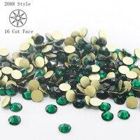 Płaskim Powrotem Kryształ Gliter Kryształy Strass 1440 sztuk/partia ss20 Emerald Rhinestone Nail Art dla poprawek Dżetów Gems decoration