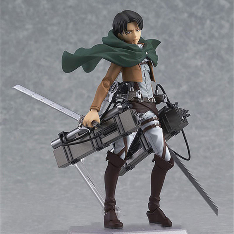 Action figure toys Attack on Titan Mikasa Ackerman action PVC Model toys For Anime Lovers As Christmas Gift  14cm N115