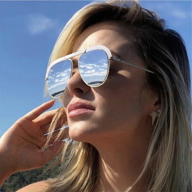 2019 Newest Pilot Elegant Ladies Cat Eye Sunglasses Women Men Luxury Brand D Designer Italy Sun Glasses For Vintage Shades