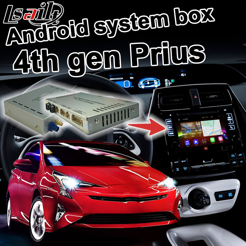 Android 6 0 GPS Navigation Box for Toyota Prius 2016 4th Gen video interface WiFi Waze