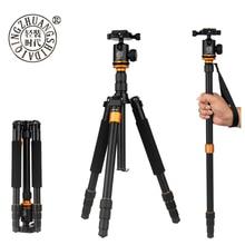 Beike QZSD Q999S 전문 사진 휴대용 알루미늄 합금 삼각대 키트 Monopod 스탠드 볼 헤드 여행 DSLR 카메라