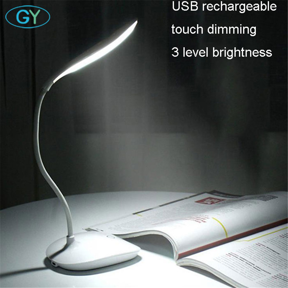 LED Desk Lamp Foldable Dimmable Touch Table Lamp DC5V USB rechargeable table Light 5000K night light touch dimming portable lamp
