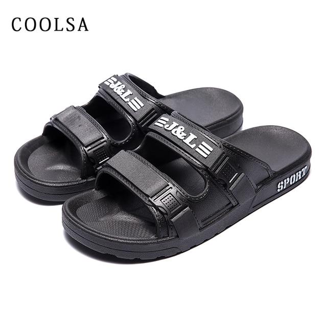 Coolsa Casa Verano Sandalias De Aire Casuales Playa Chanclas Planas Al Zapatillas Libre Zapatos Baño Gruesa Suave Moda Hombre Tl5Juc3KF1