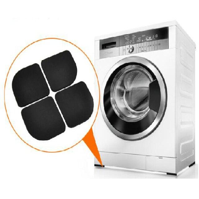 1 set/lotto di Colore Nero Multifunzionale Lavatrice Shock Pad antiscivolo Stuoi
