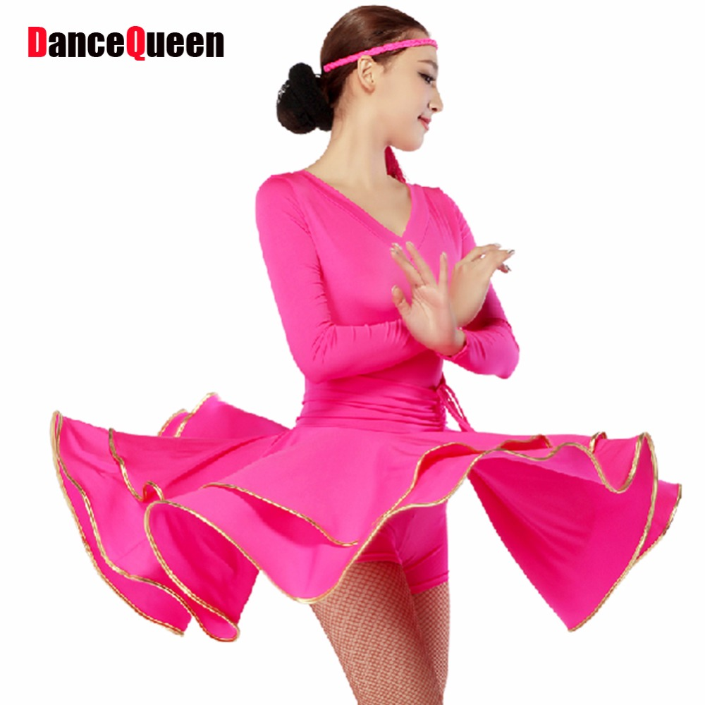 Latino danza mujeres venta verde/rosa/púrpura/negro/rojo señora ...