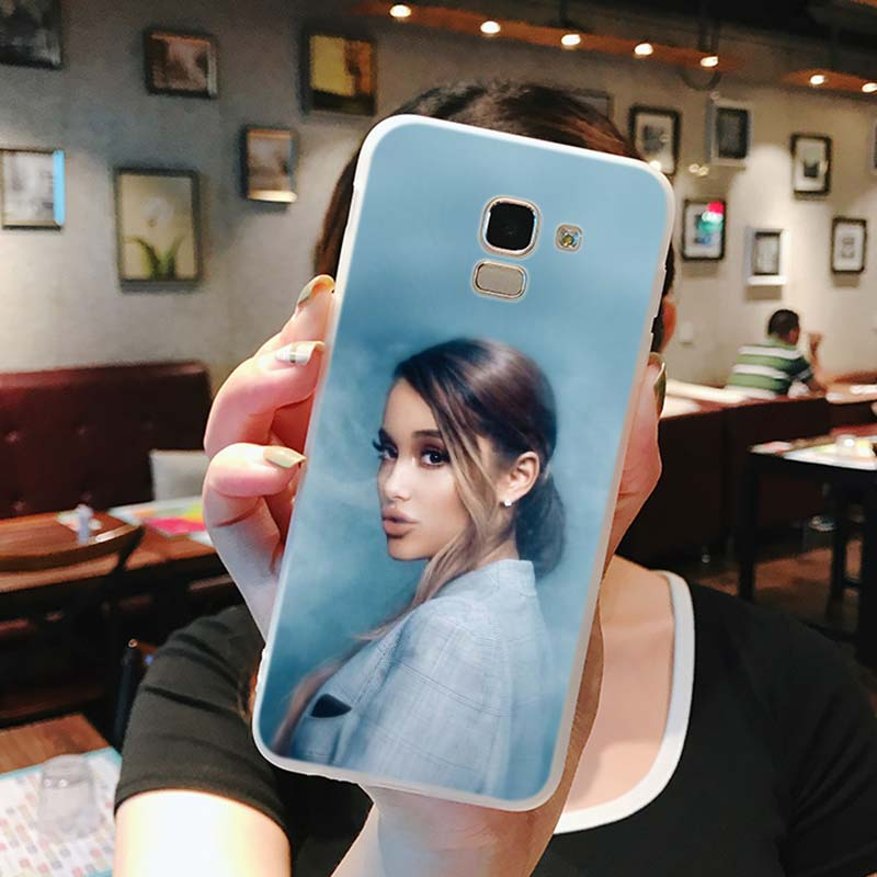 Silicone Case Ariana grande Thank u next Printing for Samsung Galaxy j8 j7 j6 j5 j4 j3 Plus Prime 2018 2017 2016 Case Cover in Fitted Cases from Cellphones Telecommunications