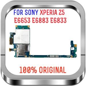 Image 2 - 全作品オリジナルロック解除メインボードマザーボードフレックス回路ケーブルソニーの Xperia Z5 E6883 E6653 E6833 E6853 マザーボード