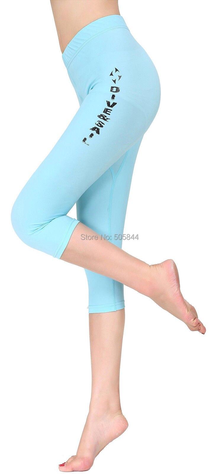 Женская Мокрые одежды спорта людей Подводное плавание дайвинг Подрезанные Штаны спортивные fitnell Кальсоны йоги