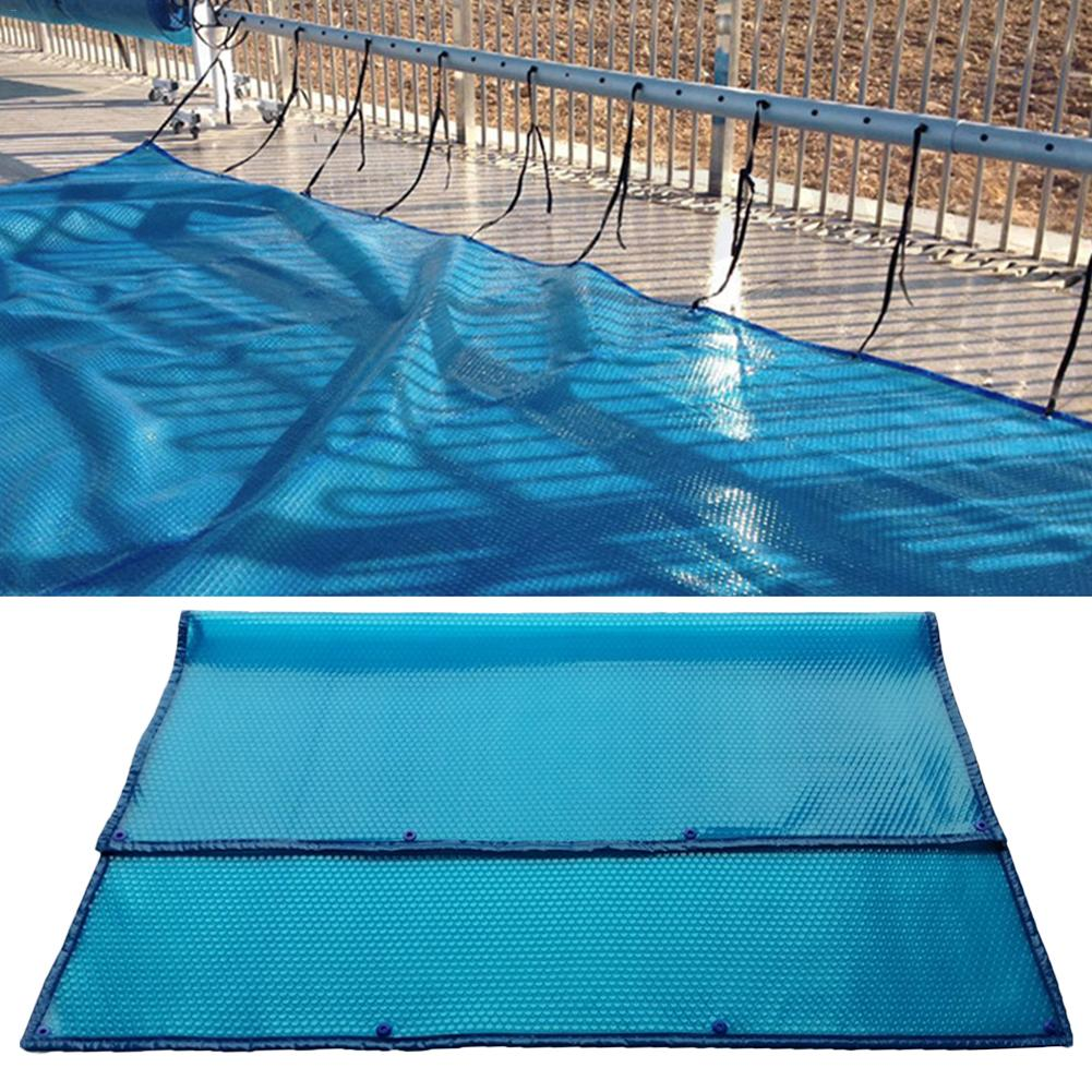 2019 New 1PCS Blue Swimming Pool Cover 100*100cm/100*200cm Square Waterproof And Dustproof Nsulation Bubble Blanket Accessories