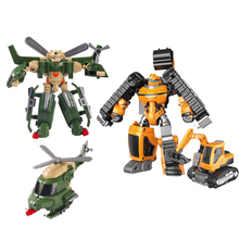 Transformation Robot Mini Cars Excavator Classic Deformation Robot Action Figures Toys Tobot Brothers Anime  Boys Gifts For Kids transformation plastic robot cars action figure toy transformation kids classic robot cars toys christmas gifts for children