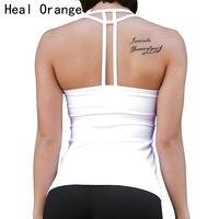CURAR LARANJA Sexy Backless Yoga Camisas Com Camisas Do Esporte Bra mulheres de Secagem rápida de Fitness Yoga Top Colete Ginásio de Esportes Em Execução roupas
