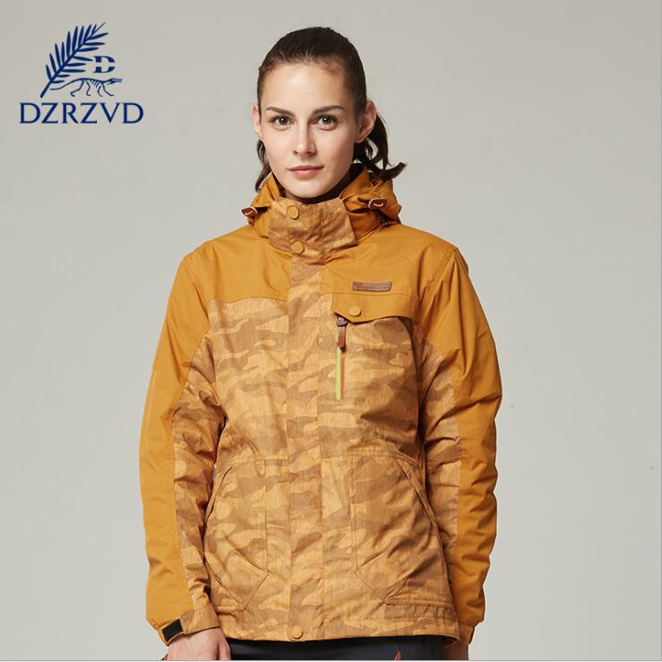 Winter women Outdoor Sports ski Hiking Camouflage Windbreaker Jackets Two-Piece Waterproof Windproof Warm camping jackets getworth s6 office desktop computer free keyboard and mouse intel i5 8500 180g ssd 8g ram 230w psu b360 motherboard win10
