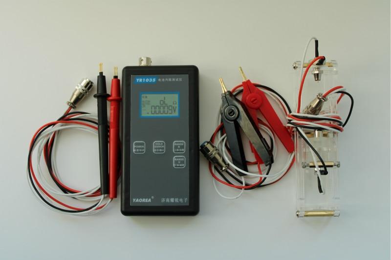 Testeur de résistance interne de batterie au lithium de haute précision et rapide 1035 de Yao Rui, 100 V EMU 18650