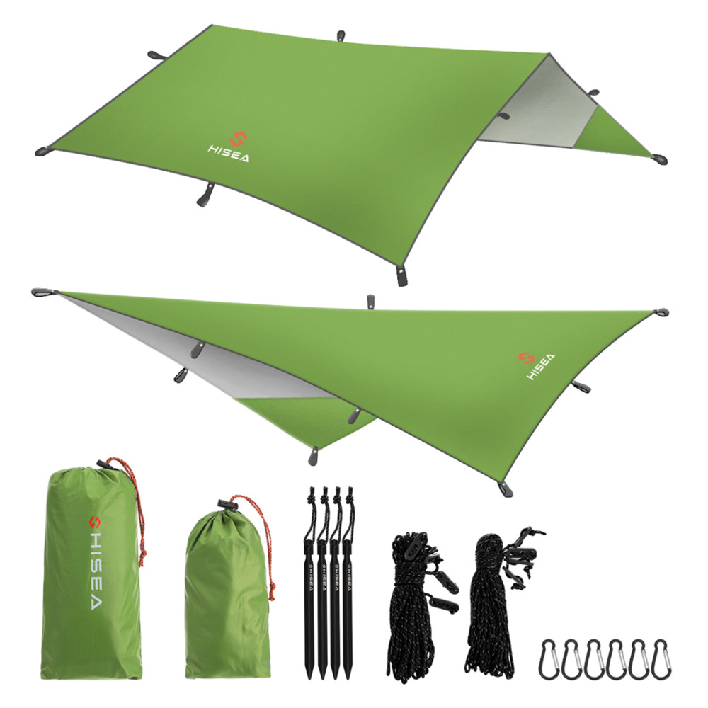 Hisea Hammock Rain Fly Tent Tarp Shelter - Camping Shelter Rainfly Sun Shelters and Sunshade for Beach, Picnic 4 1 5m sun shelter sunshade camouflage tent outdoor waterproof awning sun shelter sunshade camping mat for picnic t15 0 5