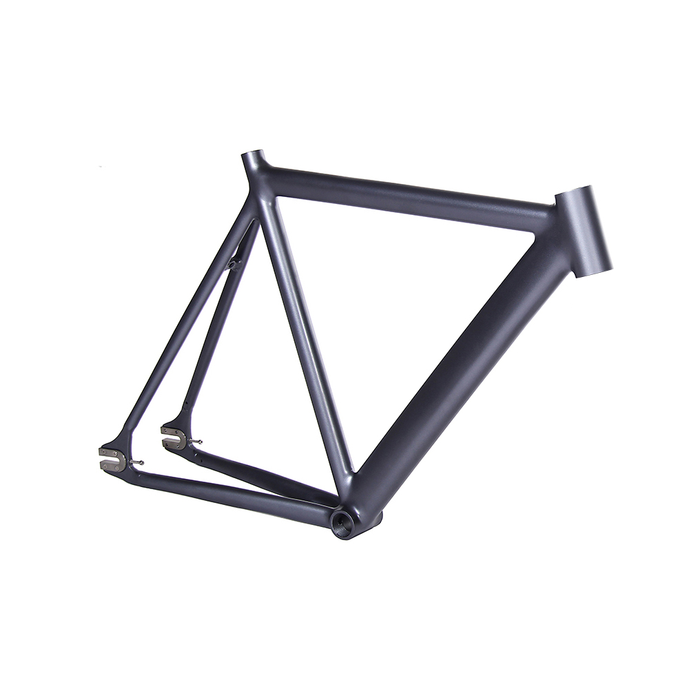 700C Fixed Gear bike frame matte black Smooth Welding 54cm Bike frame Aluminum Alloy frame track frame fixed gear frame bsa carbon 1 1 2to 1 1 8 bike frameset with fork seatpost road carbon frames fixed gear frameset