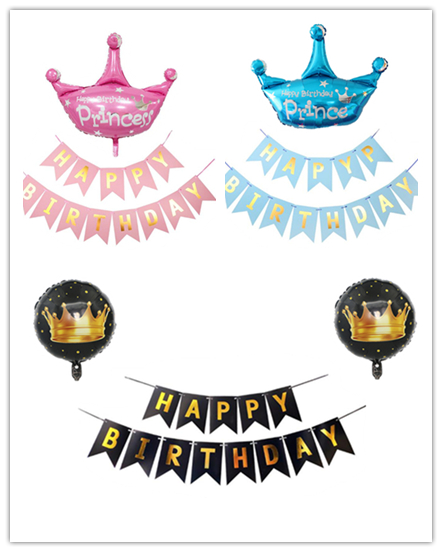 Cartoon Hat Flag Pull  BABY Party Decoration Fishtail Paper Lettering Banner  Birthday Boy Girl With Creative Banners Hat