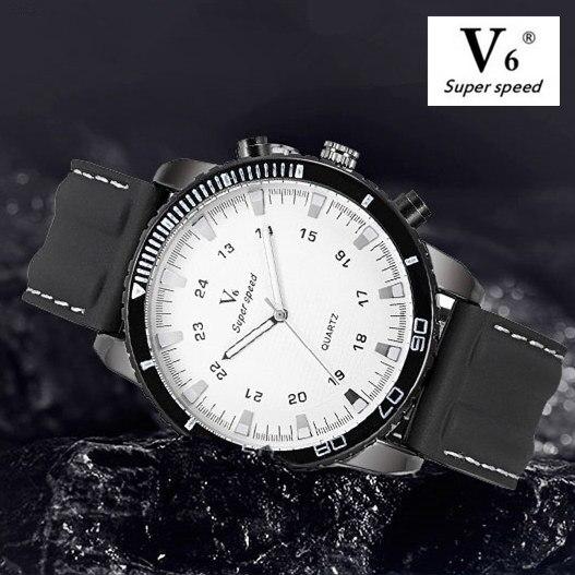 2018 New Arrived Men's V6 Watch Fashion Silicone Quartz Analog Design Men Sports Watch male Silicone Wristwatch Mascuion relojes v6 super speed v0155 men s silicone band analog quartz wrist watch black white