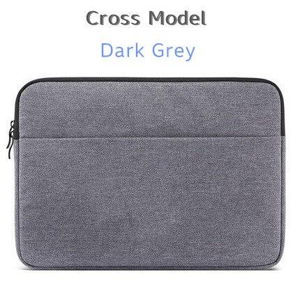 """Брендовый чехол aigreen для ноутбука 1"""", 13"""", 1"""", 15, 15,6 дюймов, сумка для Macbook Air Pro 13,3"""", 15,"""", Прямая поставка - Цвет: Cross Dark Grey"""