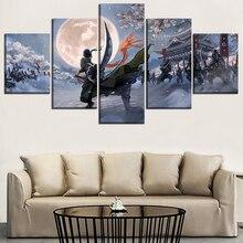 Roronoa Zoro Wano Arc 5 Piece Canvas Wall Art