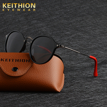 KEITHION Brand Fashion Unisex Sun Glasses Polarized  Mirror Driving Sunglasses Round Male Eyewear For Men/Women