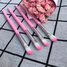 Brush Cosmetic-Tools Eye-Shadow Mini Professional Portable Plastic Nylon 4pcs
