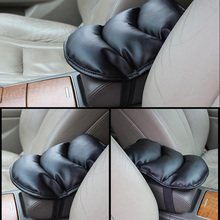JEAZEA Universal Car Armrests Cover Pad Console Arm Rest Seat Pad For Toyota Camry Corolla RAV4 Land Cruiser Vios VW Golf Polo