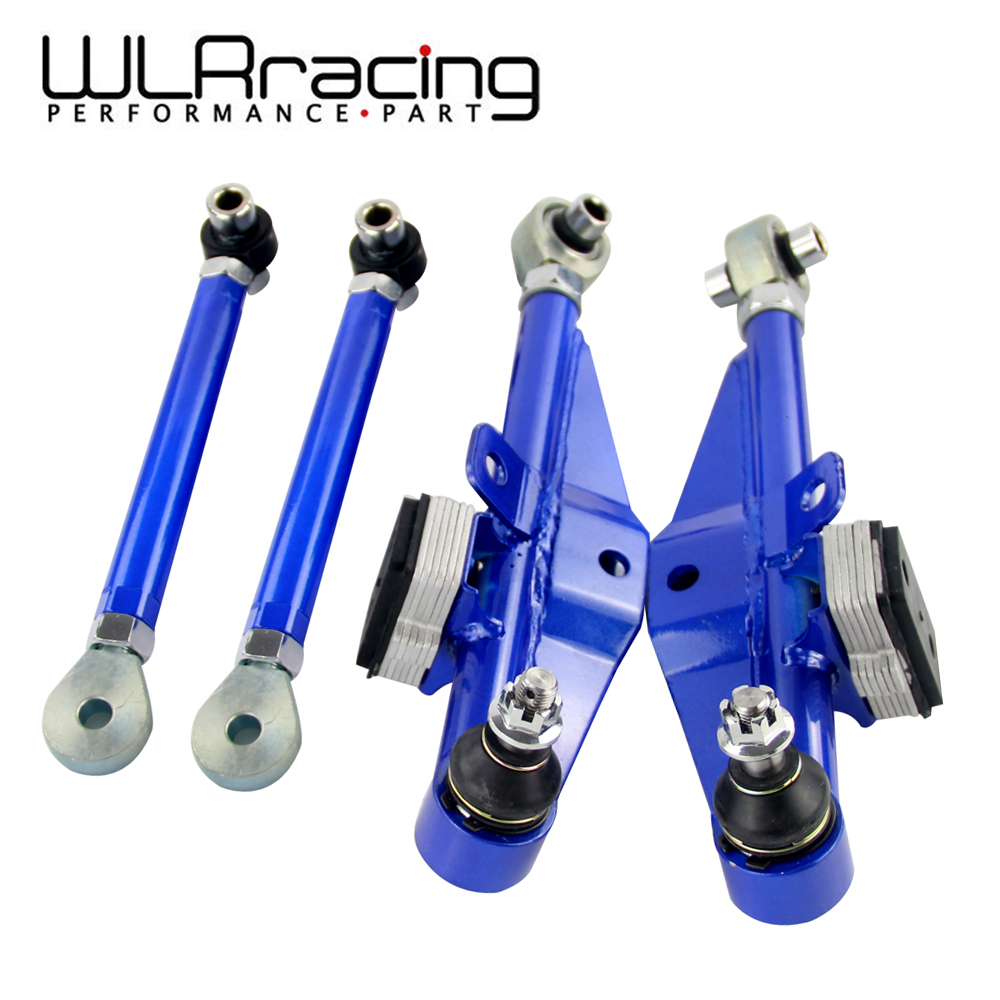 WLR RACING - S14 Adj Front Lower Control Arm Blue Only Pair For Nissan WLR9832