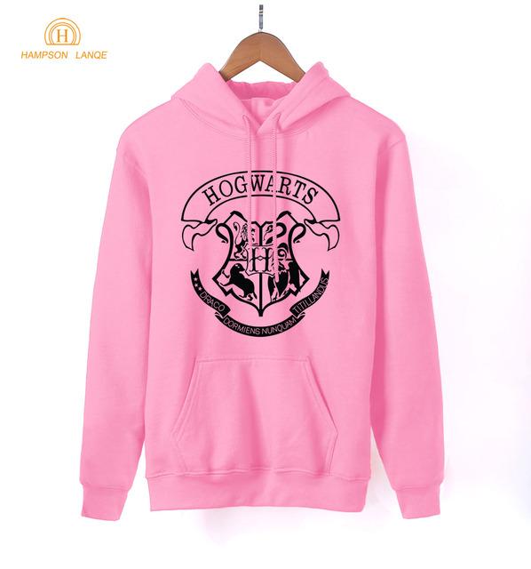 Hogwarts School Letters Print Adult Hoodies Women 2018 Spring Autumn Kawaii Sweatshirts Women's Warm Fleece Harajuku Pullovers