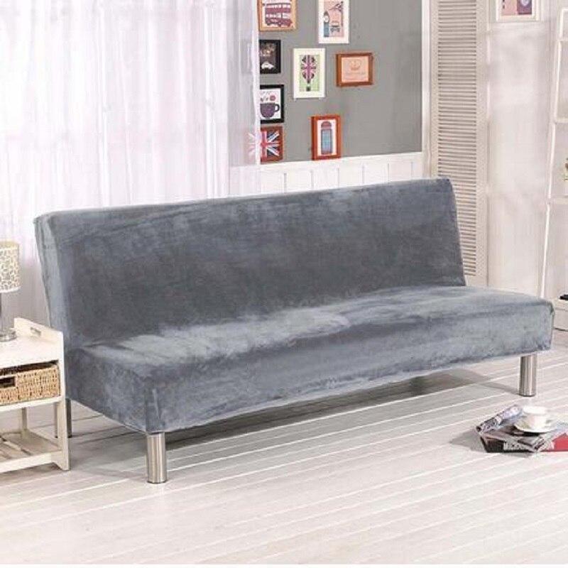 Winter Warm All Inclusive Sofa Cover Solid Color Elastic